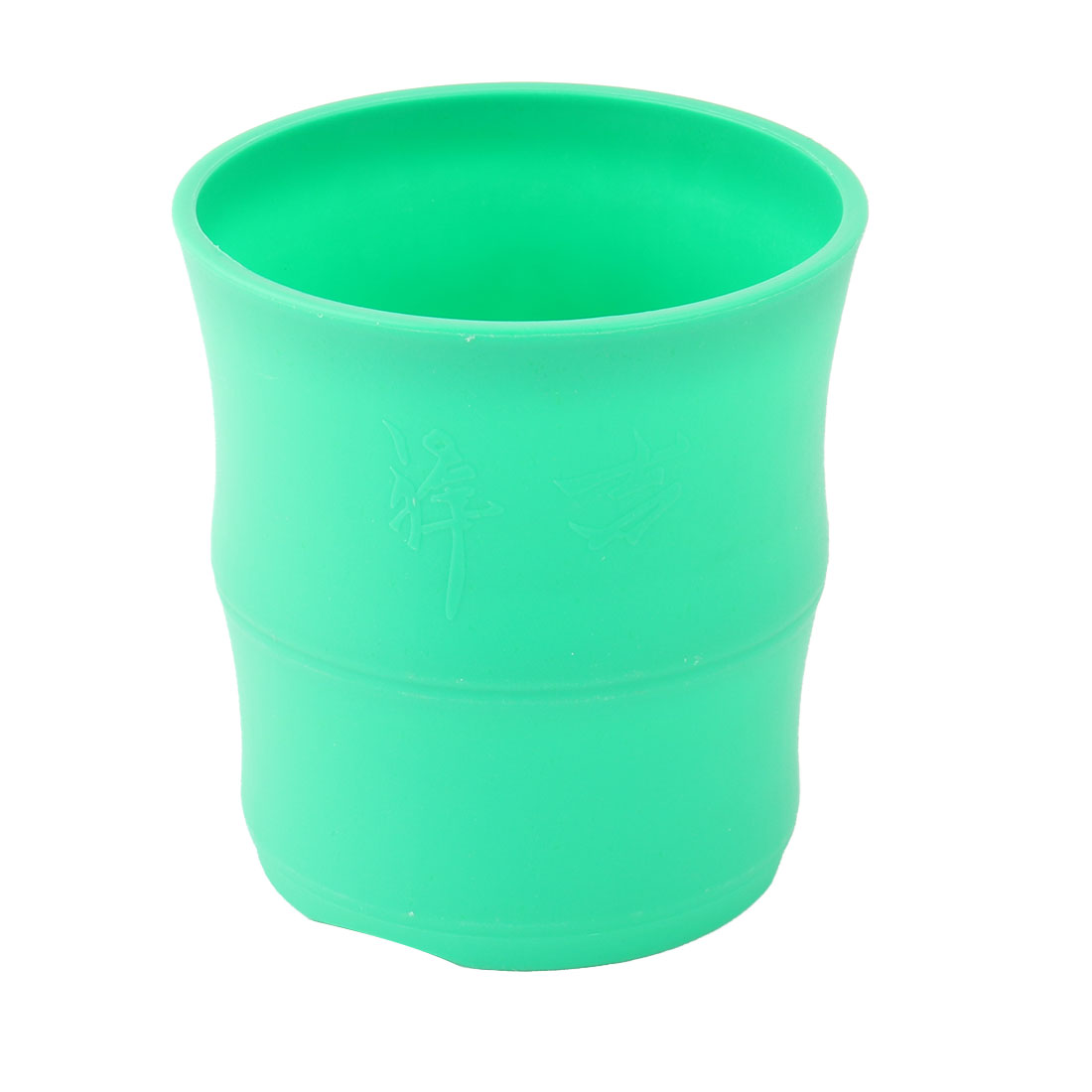 Dorm Balcony Table Decor Plastic Round Flower Cactus Plant Pot Holder Container Green