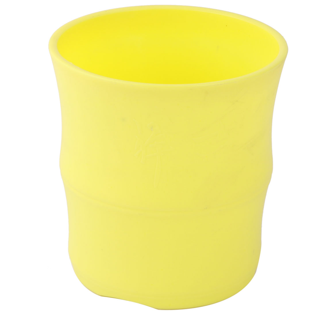Home Decor Plastic Round Flower Aloes Cactus Plant Pot Holder Container Yellow