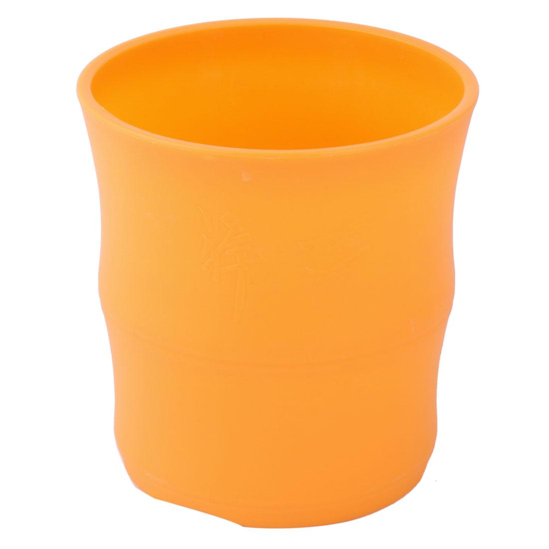 Home Decor Plastic Round Flower Aloes Cactus Plant Pot Holder Container Orange