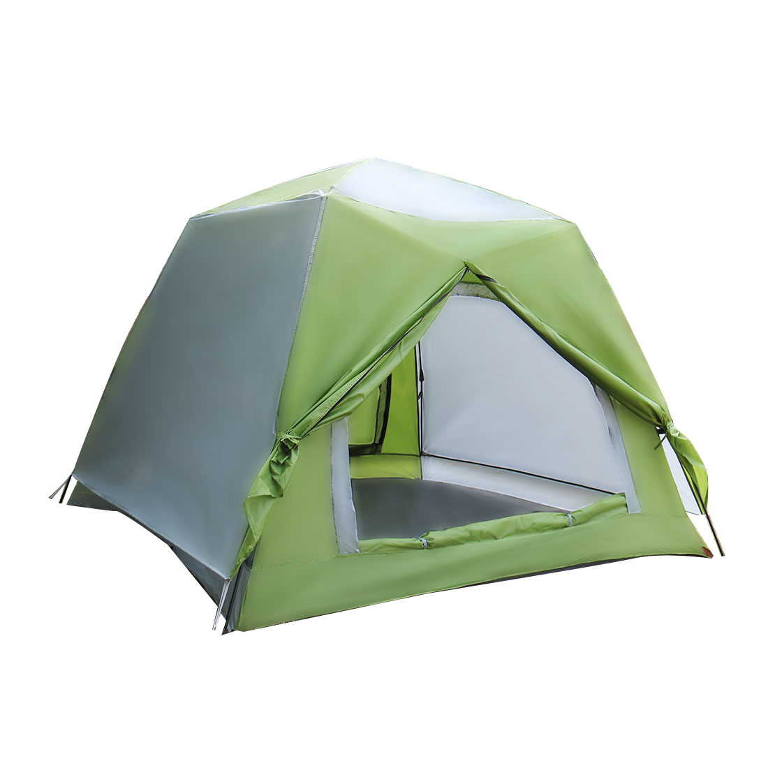Outdoor Sun Shelter Instant Camping Tent 5-8 Person Green 220 x 220 x 170cm
