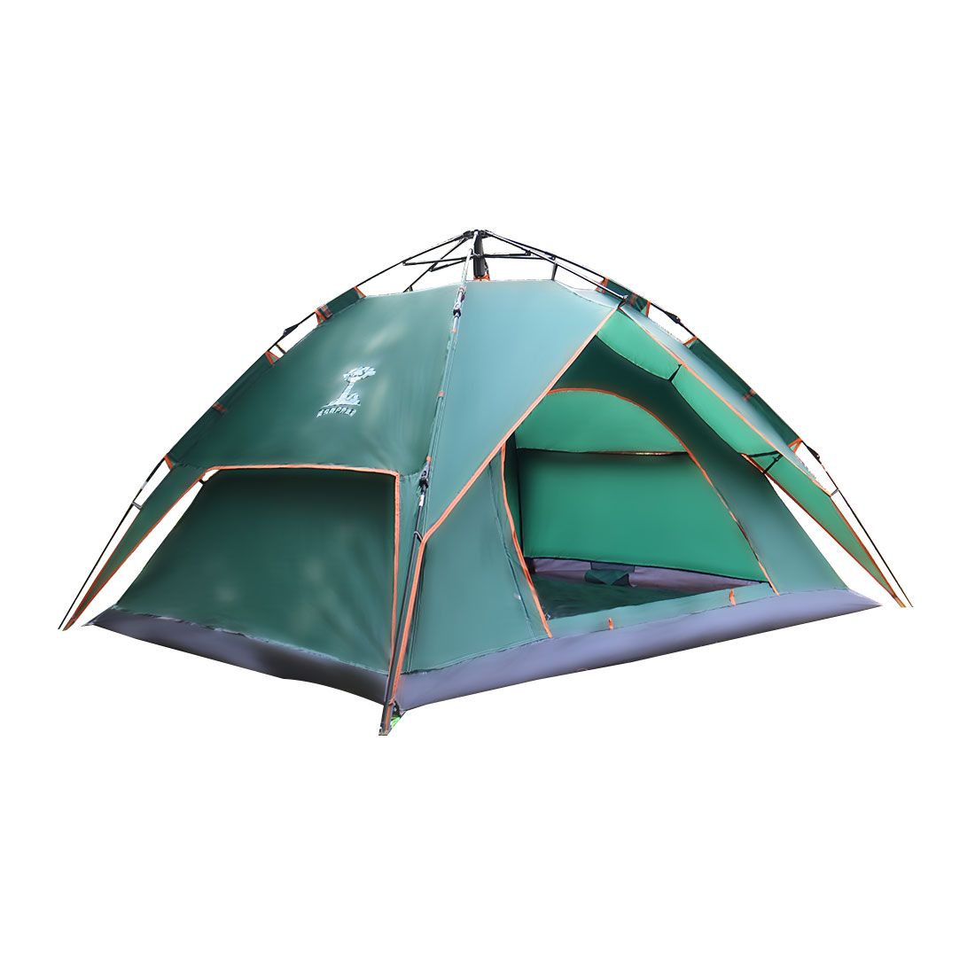 Sun Shelter Water Resistant Pop Up Automatic Tent 3-4 Person Blackish Green