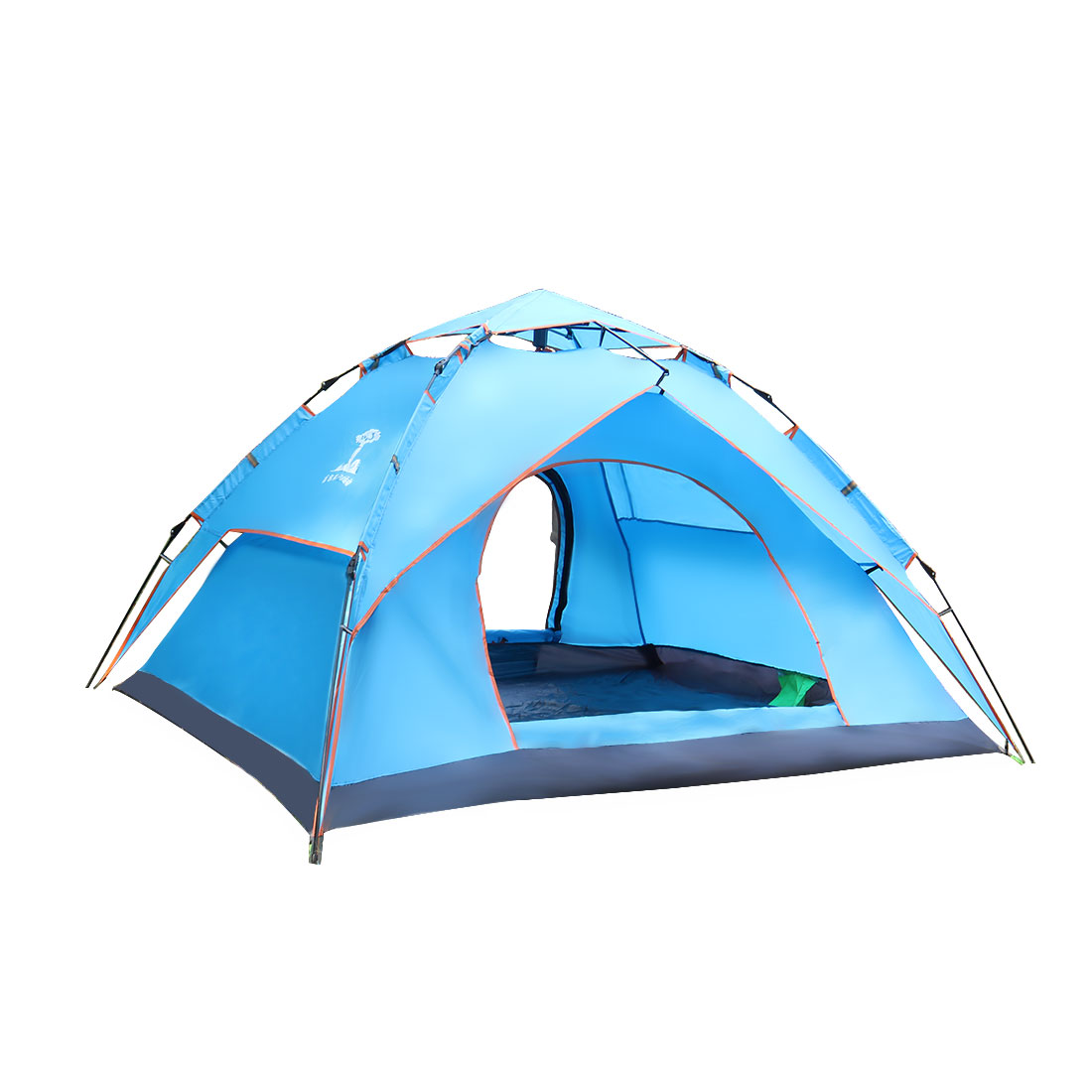 Double Layer Sun Shelter Water Resistant Pop Up Automatic Tent 3-4 Person Blue
