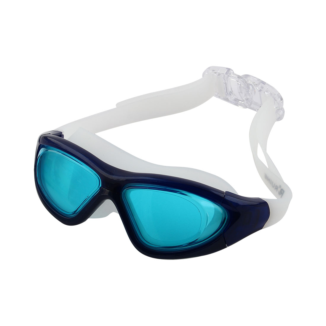 Clear Wide Vision Anti Fog Adjustable Belt Swim Glasses Swimming Goggles Teal Blue w Storage Case for Adult Men Women