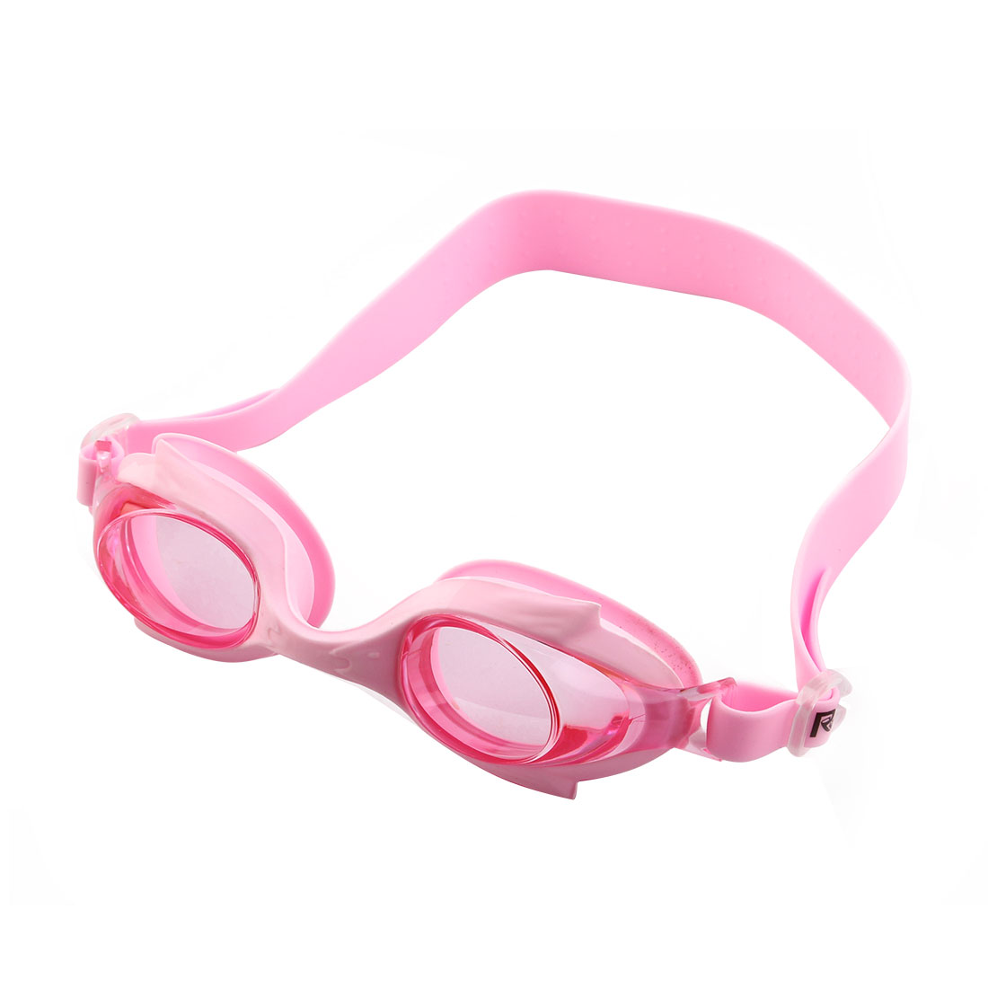 Silicone Adjustable Belt Clear Vision Anti Fog Swim Glasses Swimming Goggles Pink w Storage Case for Youth Boys Girls
