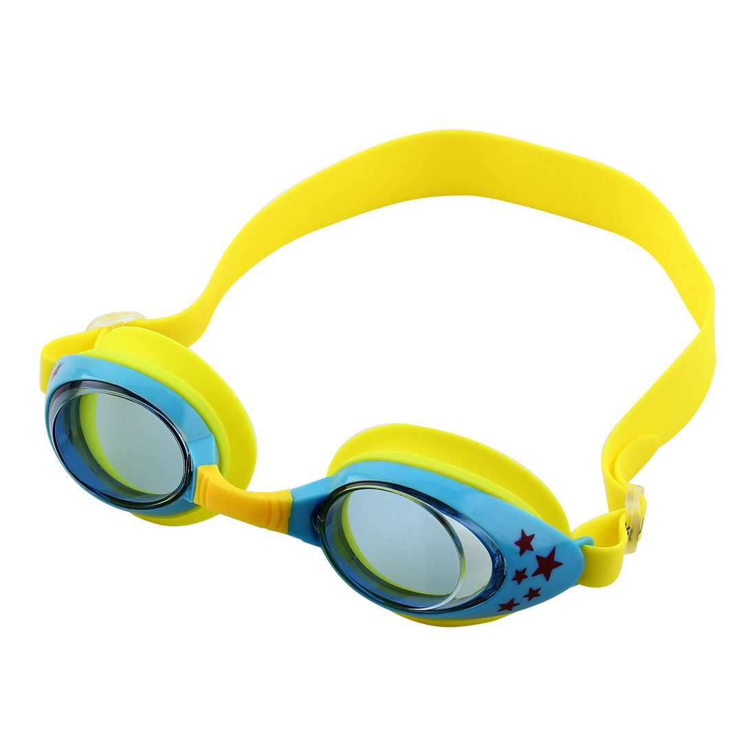 Clear Vision Anti Fog Adjustable Belt Swim Glasses Swimming Goggles Yellow Blue w Storage Case for Youth Boys Girls