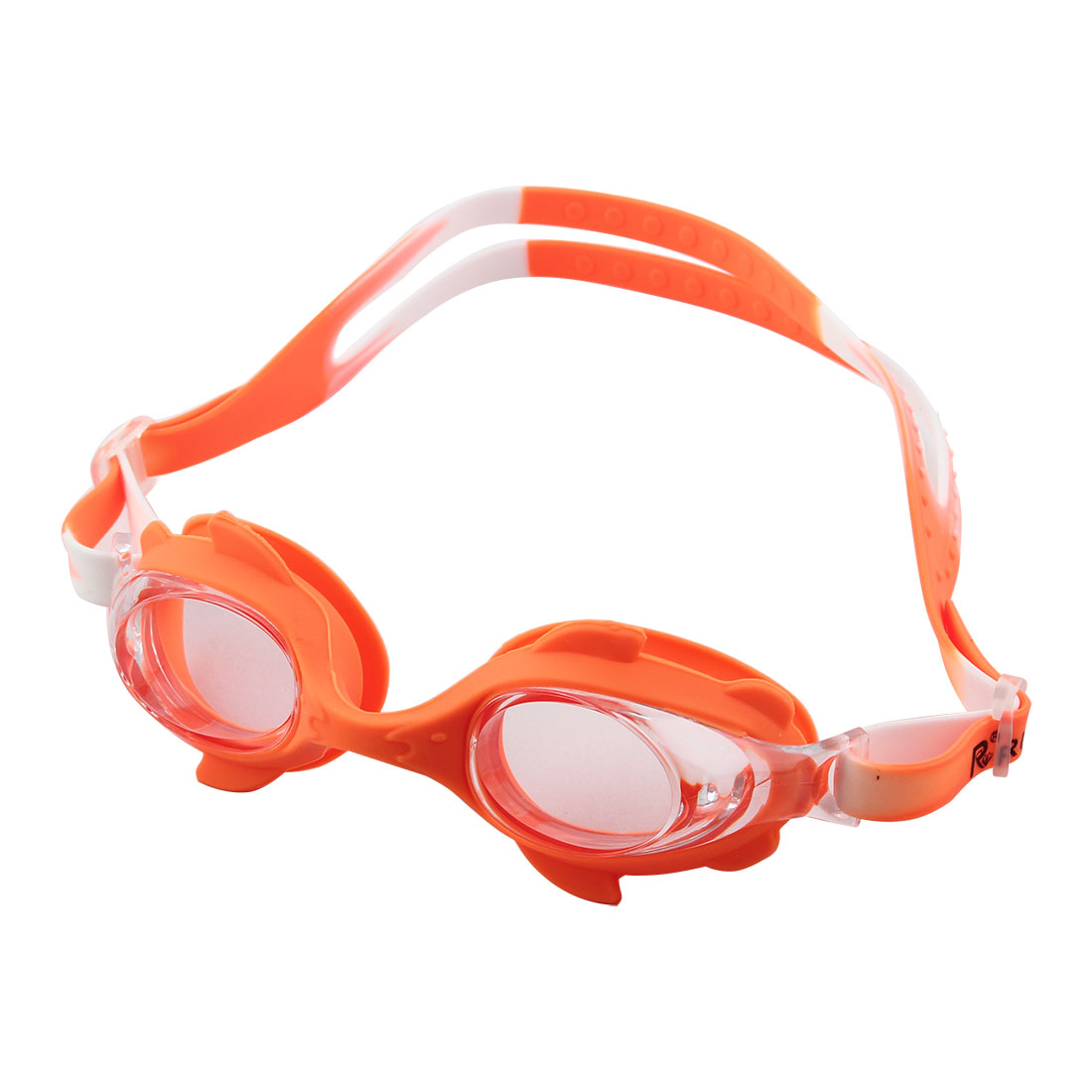 Clear Vision Anti Fog Adjustable Belt Swim Glasses Swimming Goggles Orange w Storage Case for Youth Children