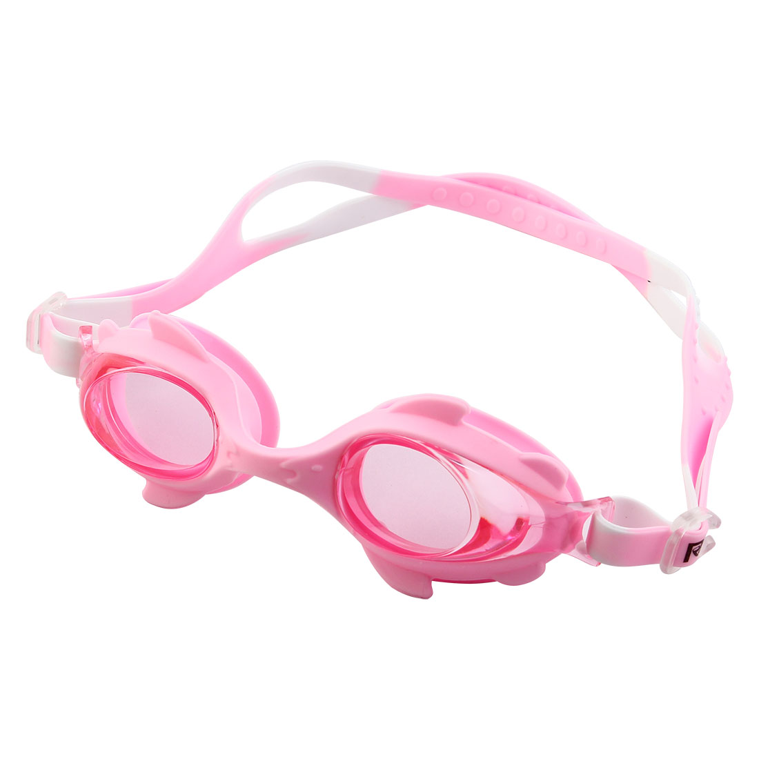 Clear Vision Anti Fog Adjustable Belt Swim Glasses Swimming Goggles Pink w Storage Case for Youth Children
