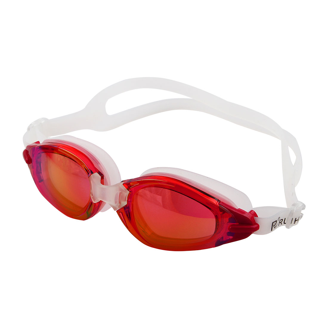 Silicone Adjustable Belt Clear Vision Anti Fog Swim Glasses Swimming Goggles Red w Storage Case for Men Women