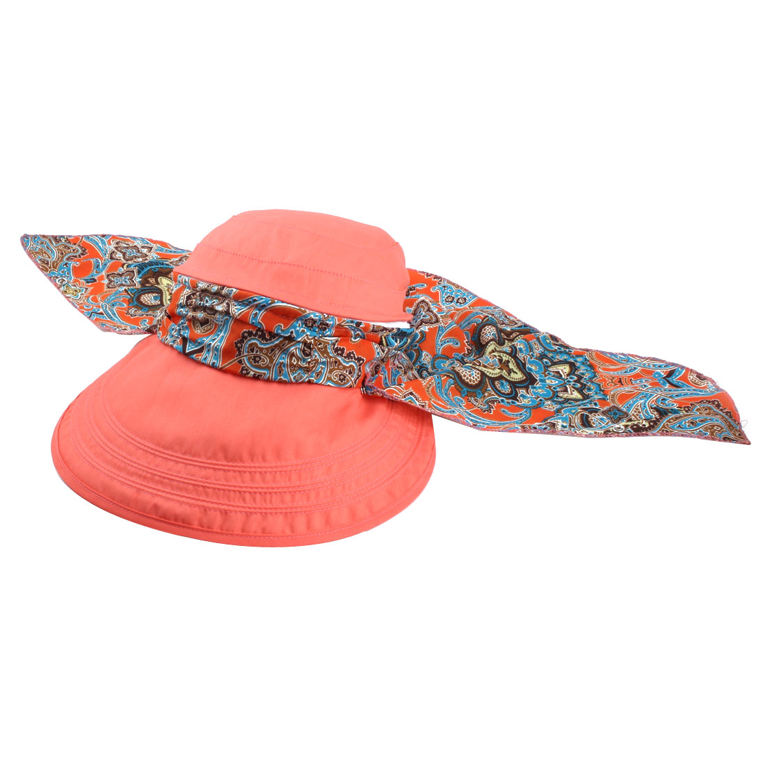 Ladies Women Outdoor Cotton Blends Adjustable Floppy Wide Brim Summer Sun Cap Beach Hat Salmon Pink