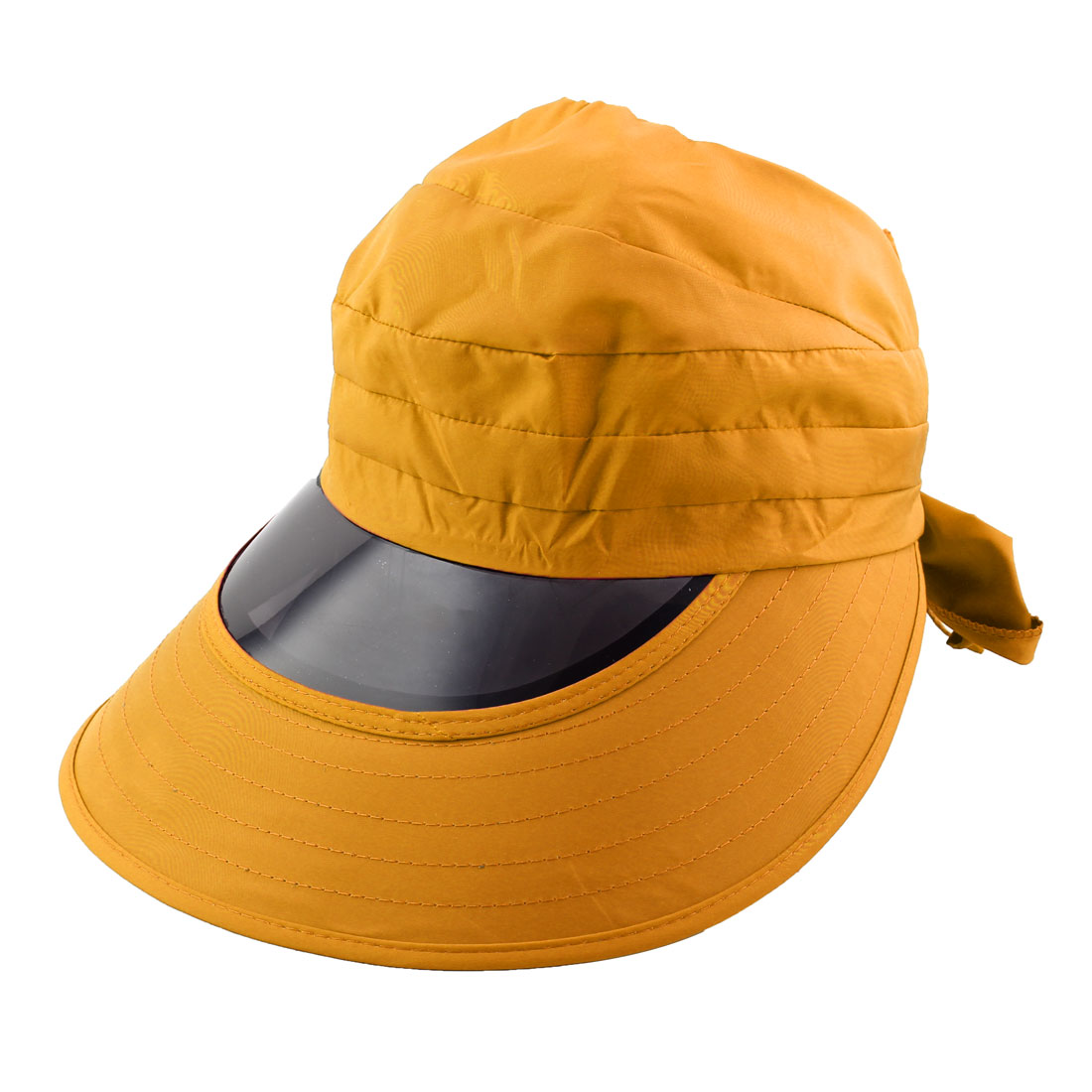 Woman Outdoor Travel Cycling Summer Beach Wide Brimmed Cap Sun Protective Visor Hat Yellow