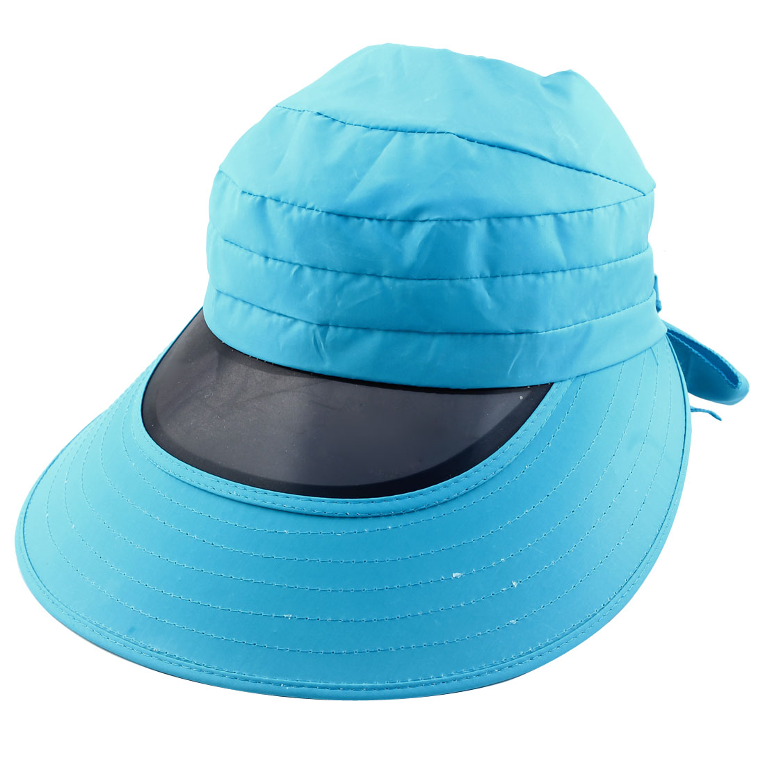 Woman Outdoor Travel Cycling Summer Beach Wide Brimmed Cap Sun Protective Visor Hat Sky Blue