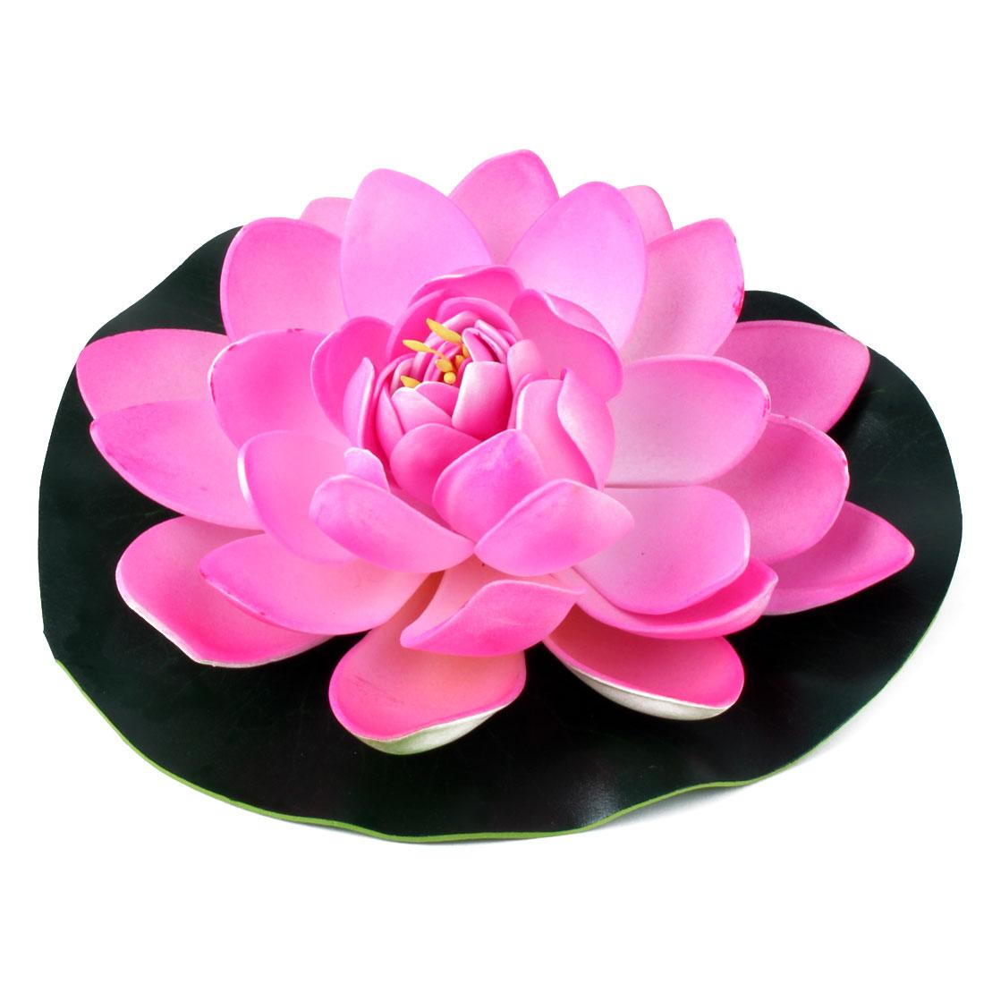 Aquarium Fish Tank Pond Foam Simulation Floating Lotus Flower Decor Green Pink