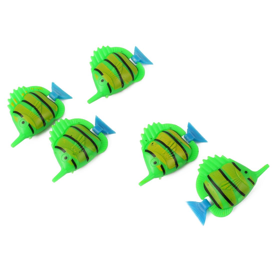 Aquarium Fishbowl Plastic Floating Aritificial Fish Ornament Underwater Decor 5pcs