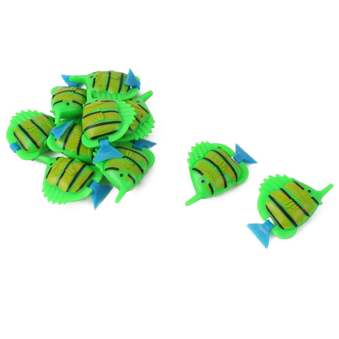 Aquarium Fishbowl Plastic Floating Aritificial Fish Ornament Underwater Decoration 10pcs