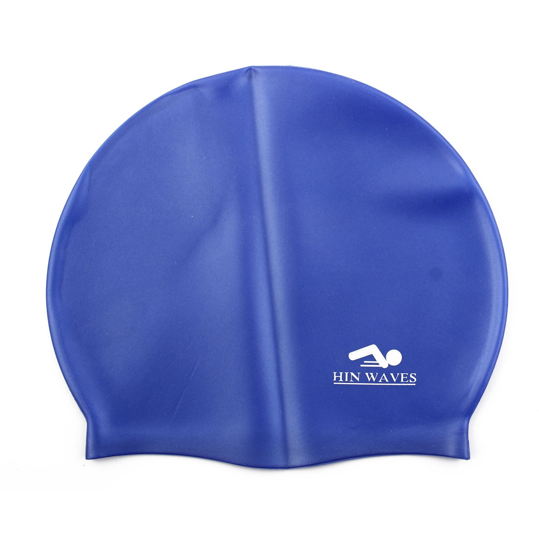 Surfing Swimming Silicone Dome Shaped Elastic Stretchable Swim Hat Cap Blue