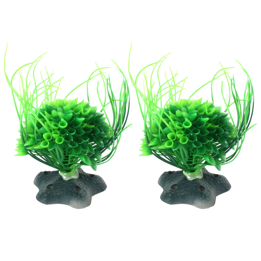 Home Aquarium Plastic Simulation Landscape Plant Grass Ornament Green 2pcs