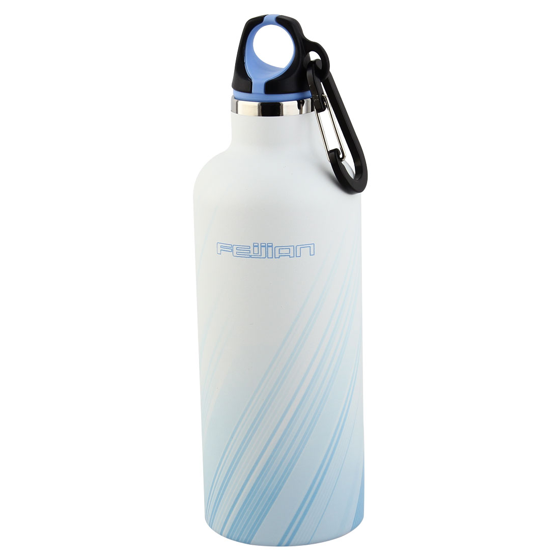 FEIJIAN Authorized Outdoor Sports Stainless Steel Double Walled Vacuum Insulated Heat Retaining Flask Water Bottle Blue 17 oz 500ml