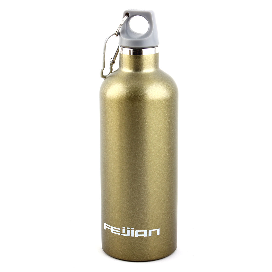FEIJIAN Authorized Outdoor Sports Stainless Steel Double Walled Vacuum Insulated Mug Drinks Bottle Olive Green 17 oz 500ml