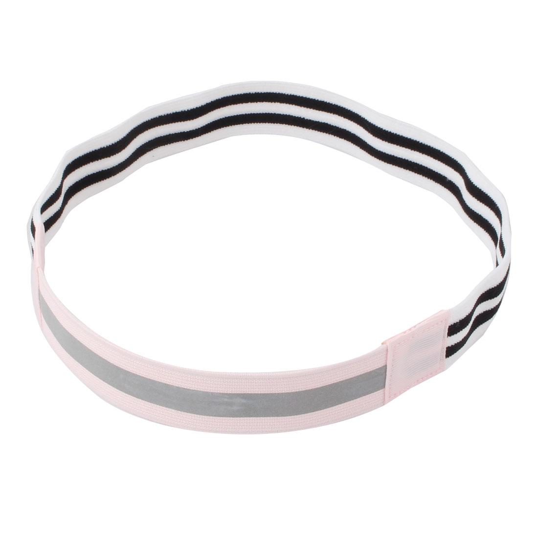 Yoga Silicone Stripe Pattern Non-slip Sports Headband Headwrap Light Pink