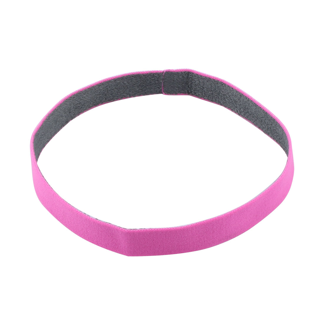 Athletic Polyester Strech Sweat Wicking Sports Headband Headwrap Pink