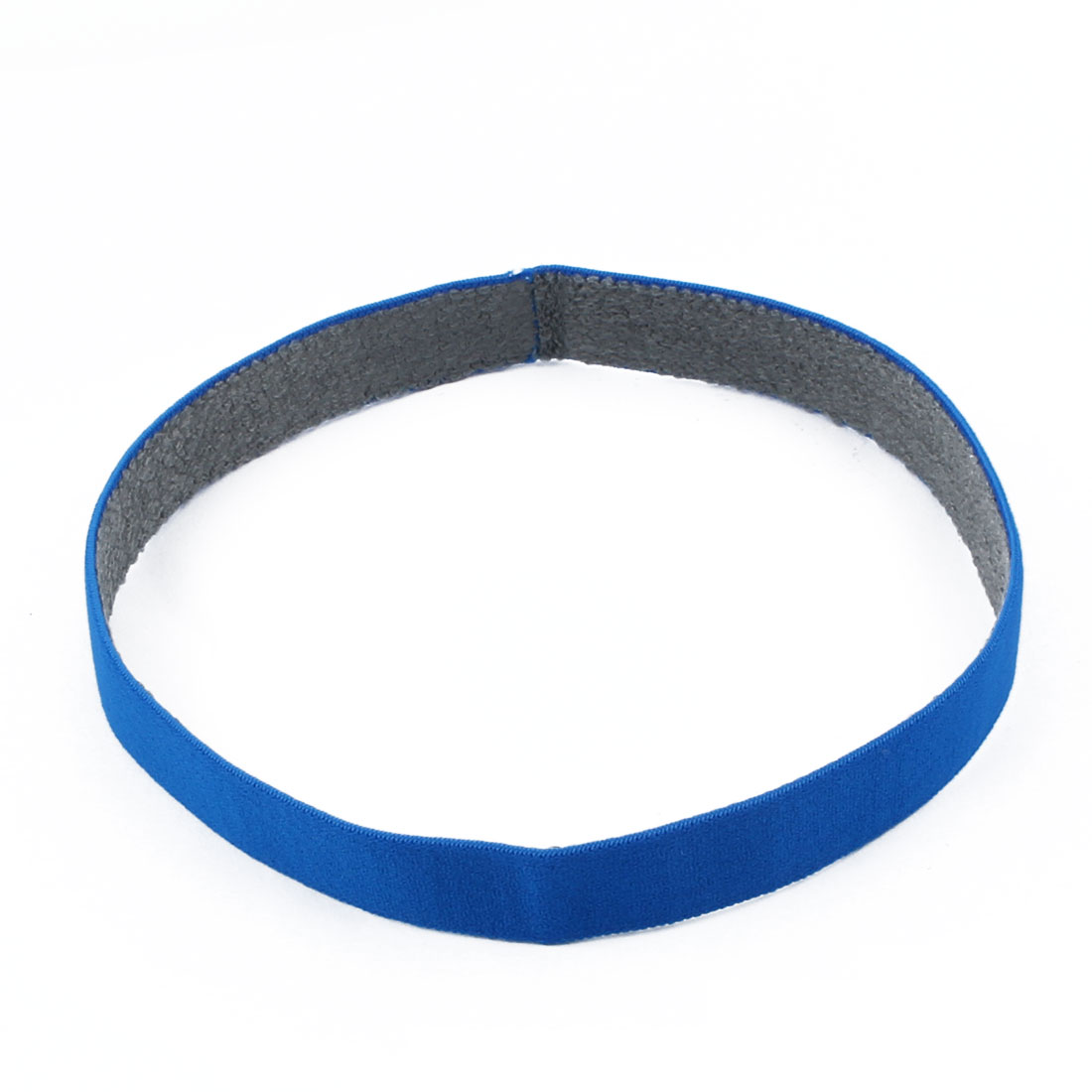 Athletic Polyester Strech Sweat Wicking Sports Headband Headwrap Blue