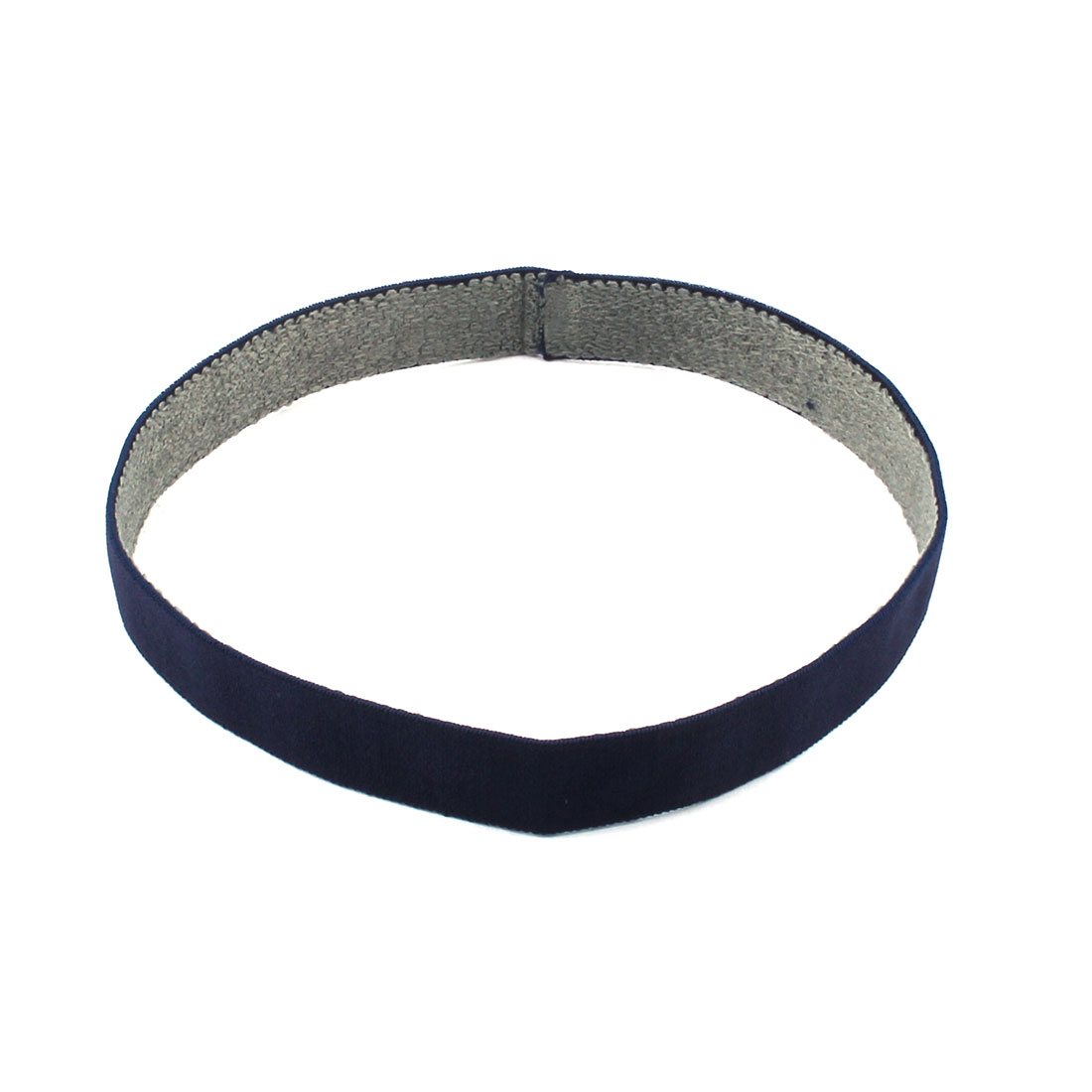 Athletic Polyester Strech Sweat Wicking Sports Headband Headwrap Navy Blue