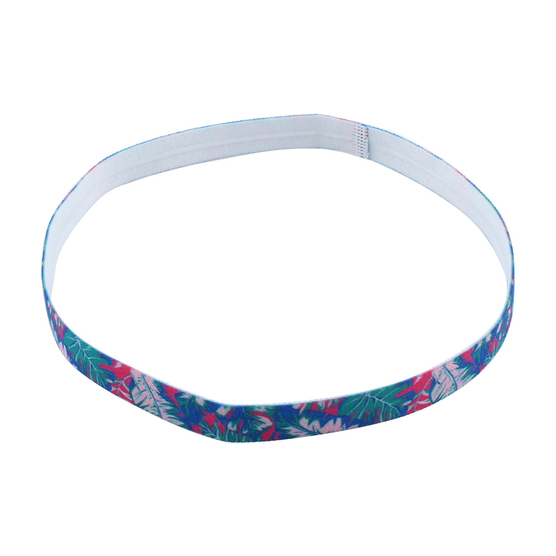 Training Silicone Flower Printed Non-slip Strech Sports Headband #1