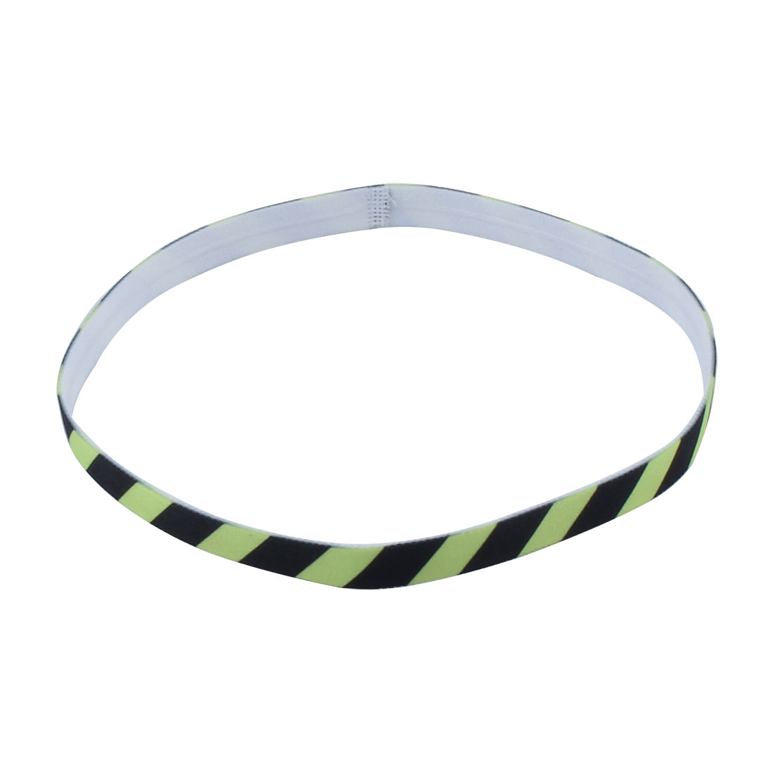 Exercise Silicone Flower Printed Non-slip Strech Sports Headband Fluorescent Green Black