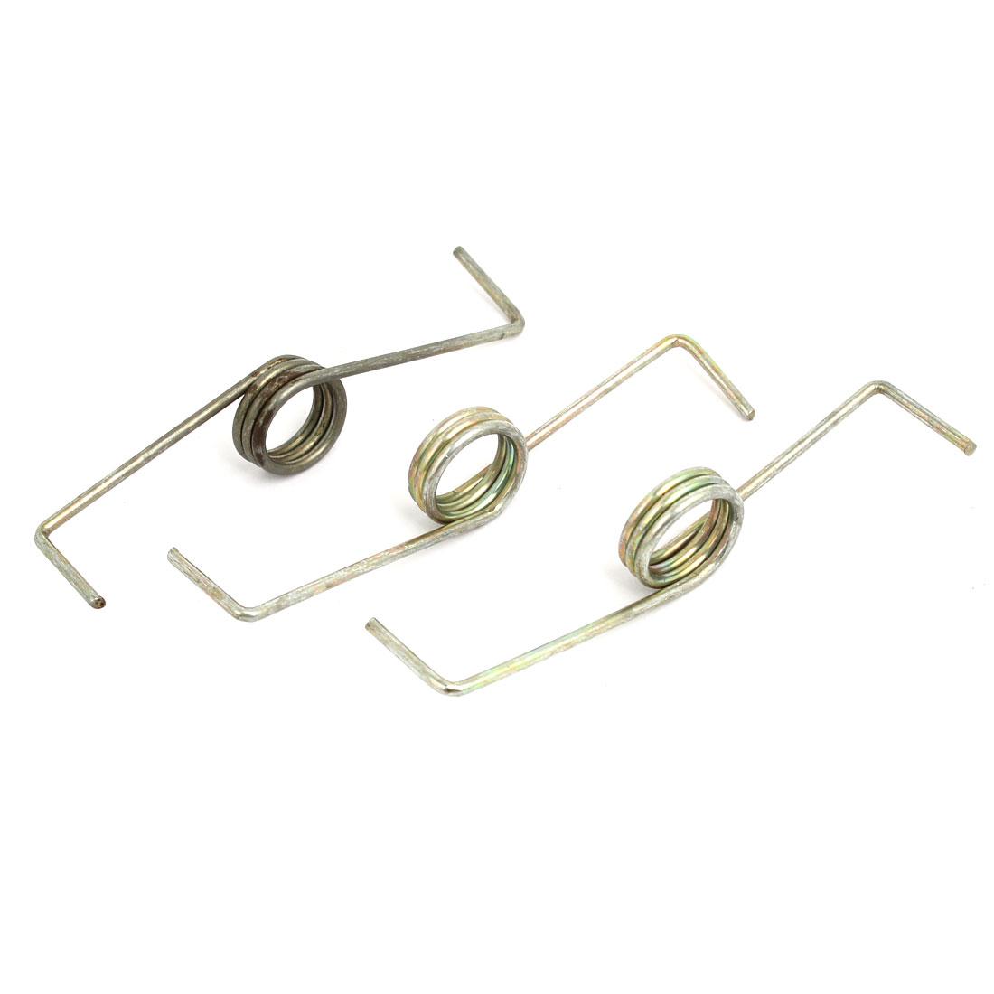 16mm Dia 75mm Length Metal Tension Spring Bronze Tone 3pcs