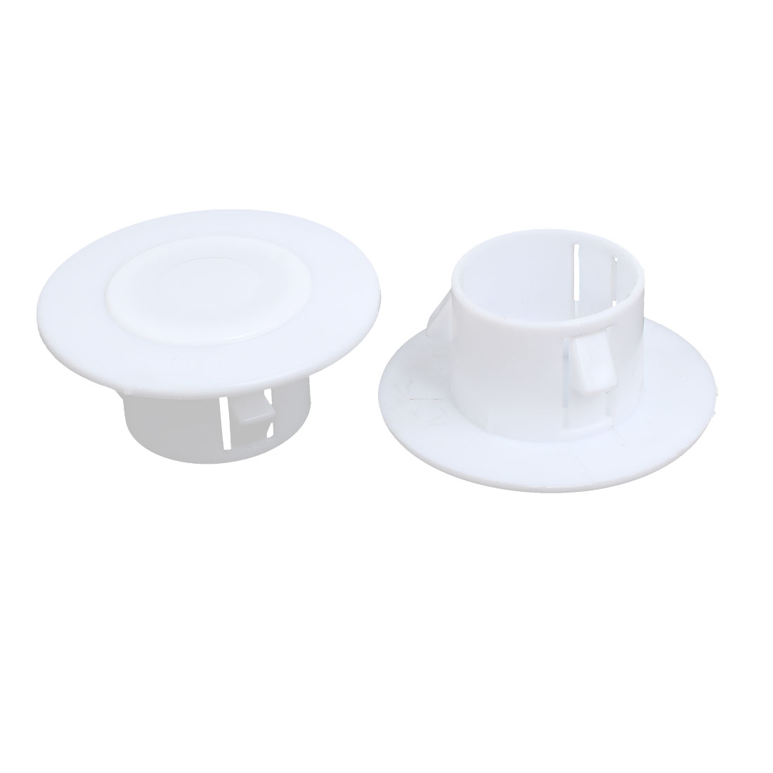 68mmx30mm Plastic Air Conditioning Wall Hole Cover White