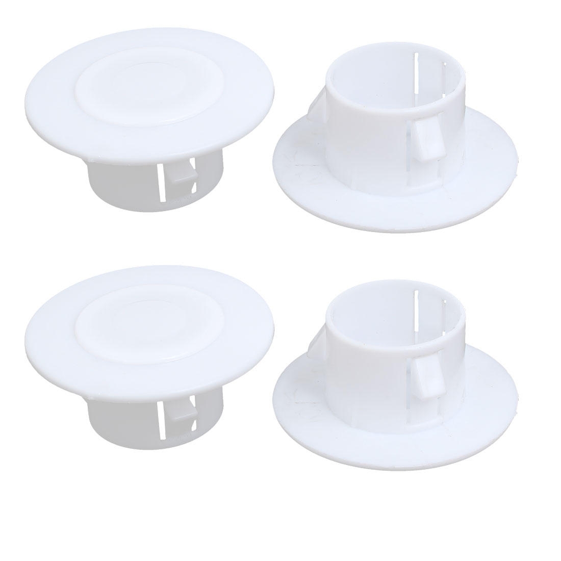 68mmx30mm Plastic Air Conditioning Wall Hole Cover White 4pcs