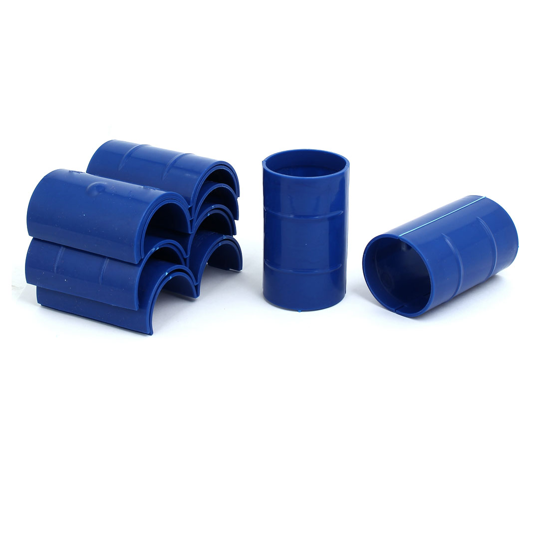 50mm Dia 2mm Thickness Central Air Conditioning Pipe Tube Clamp Blue 9pcs