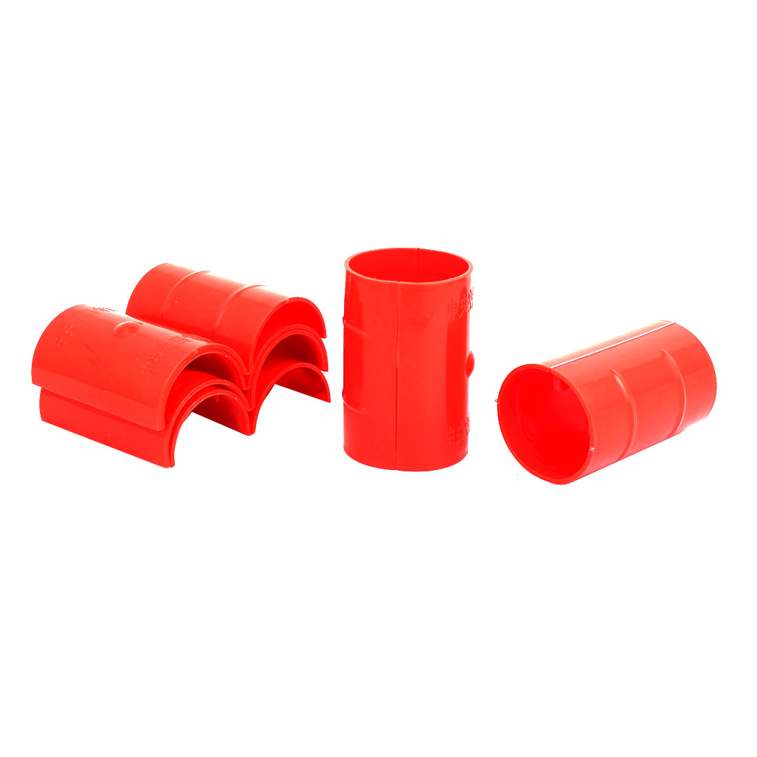 50mm Dia 2mm Thickness Central Air Conditioning Pipe Tube Clamp Red 6pcs