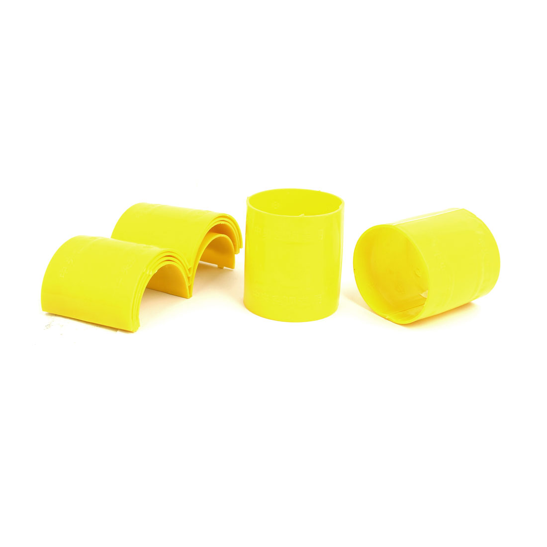 75mm Dia 2mm Thickness Central Air Conditioning Pipe Tube Clamp Yellow 6pcs