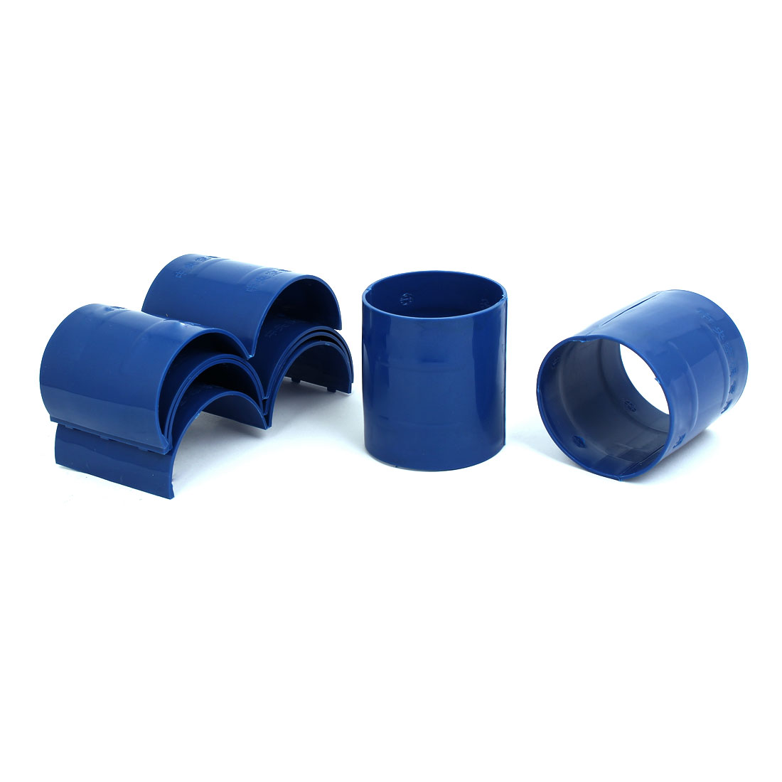 75mm Dia 2mm Thickness Central Air Conditioning Pipe Tube Clamp Blue 6pcs
