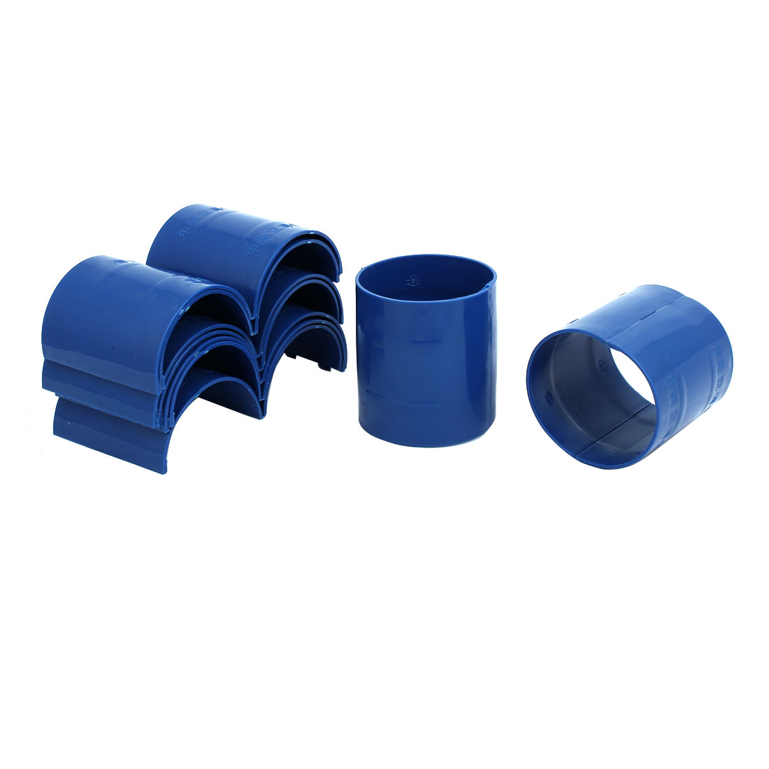 75mm Dia 2mm Thickness Central Air Conditioning Pipe Tube Clamp Blue 9pcs