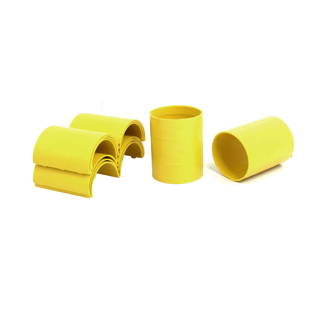 63mm Dia 2mm Thickness Central Air Conditioning Pipe Tube Clamp Yellow 9pcs