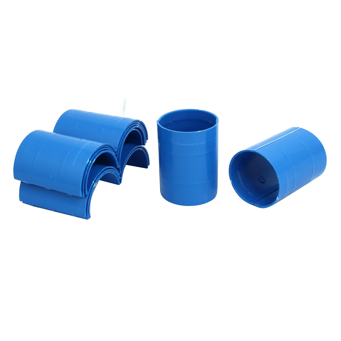 63mm Dia 2mm Thickness Central Air Conditioning Pipe Tube Clamp Blue 9pcs