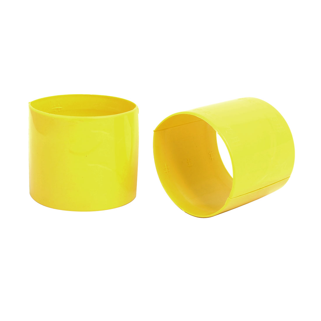 110mm Dia 2mm Thickness Central Air Conditioning Pipe Tube Clamp Yellow 2pcs