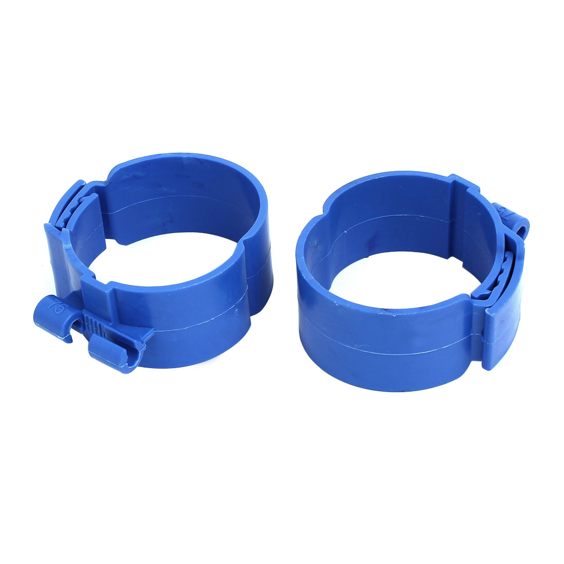 75mm Dia 38mm Width Central Air Conditioner Pipe Clip Clamp Blue 2pcs