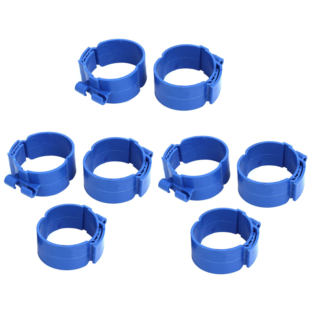 75mm Dia 38mm Width Central Air Conditioner Pipe Clip Clamp Blue 8pcs