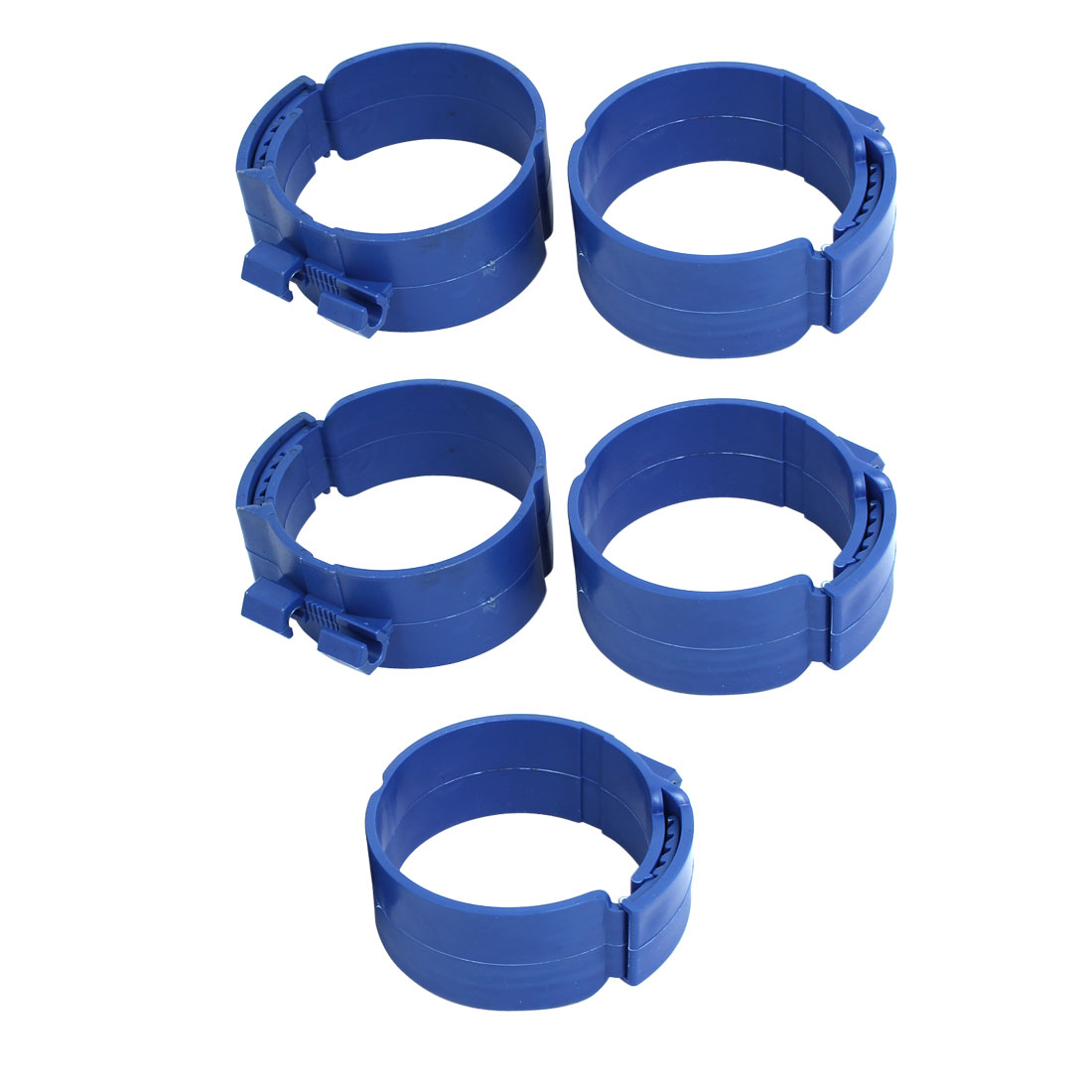 90mm Dia 38mm Width Central Air Conditioner Pipe Clip Clamp Blue 5pcs