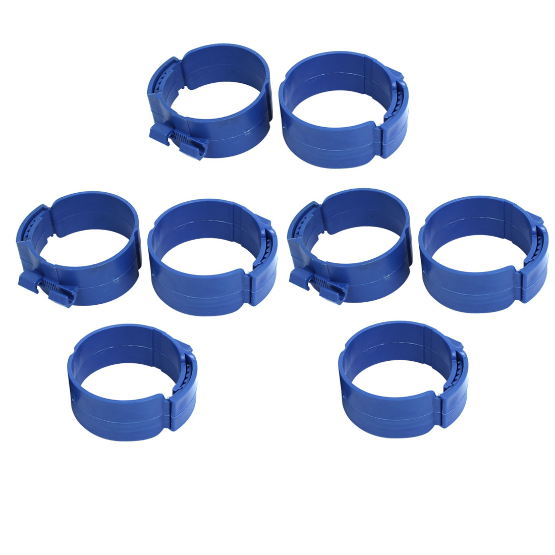 90mm Dia 38mm Width Central Air Conditioner Pipe Clip Clamp Blue 8pcs