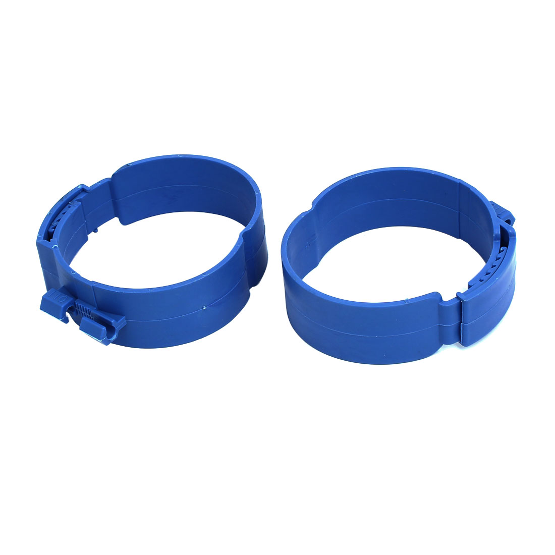 110mm Dia 38mm Width Central Air Conditioner Pipe Clip Clamp Blue 2pcs