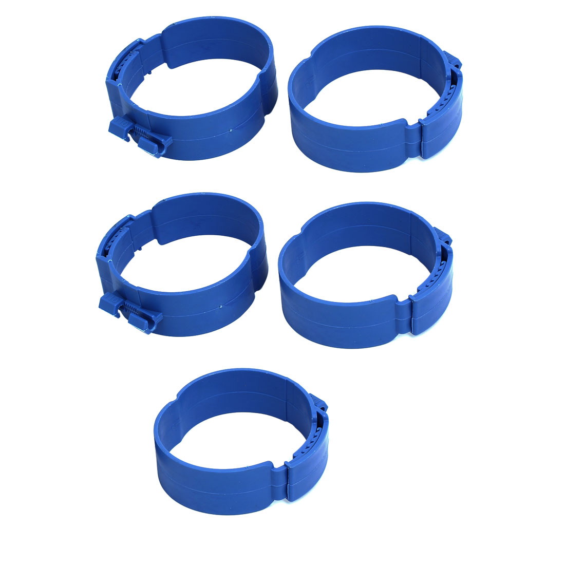110mm Dia 38mm Width Central Air Conditioner Pipe Clip Clamp Blue 5pcs