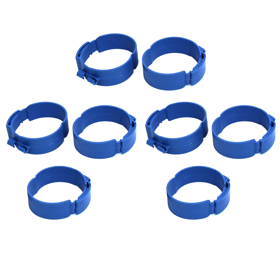 110mm Dia 38mm Width Central Air Conditioner Pipe Clip Clamp Blue 8pcs