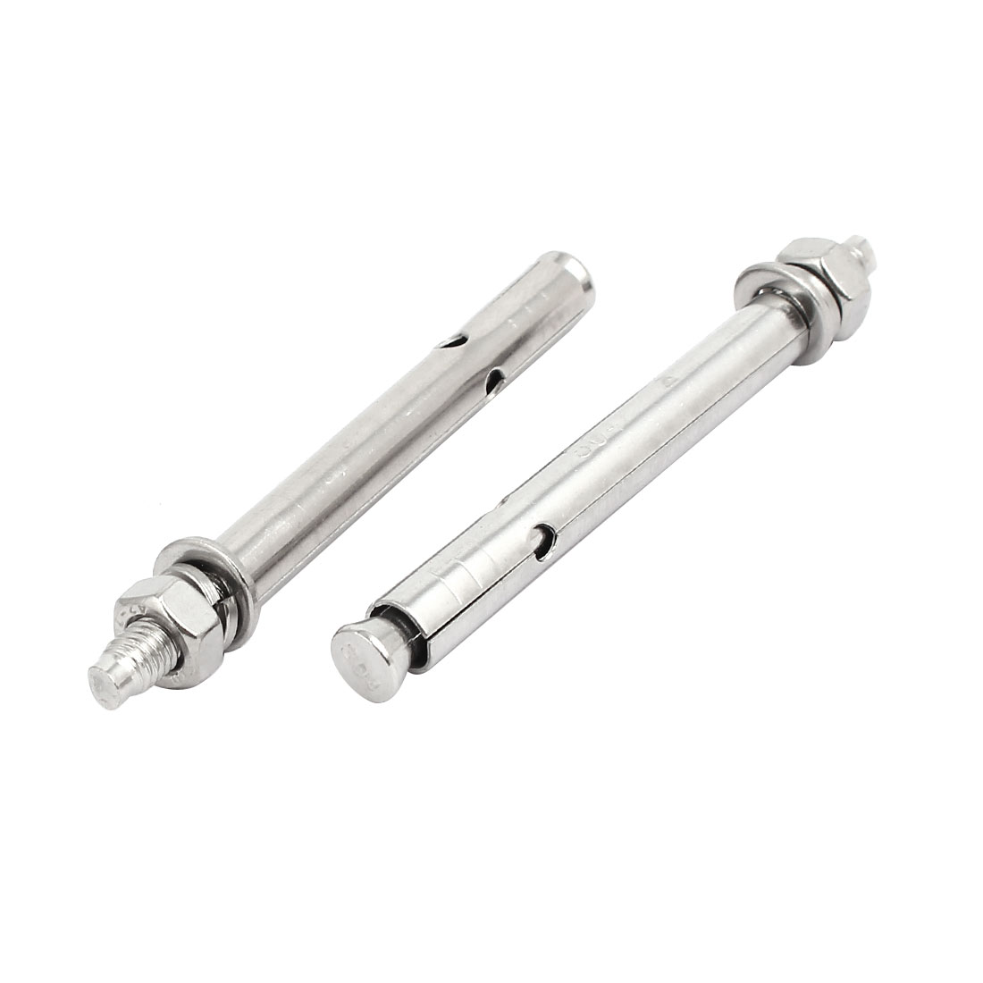 M6x80mm 304 Stainless Steel Air Condition Fitting Sleeve Anchor Expansion Bolt 2pcs