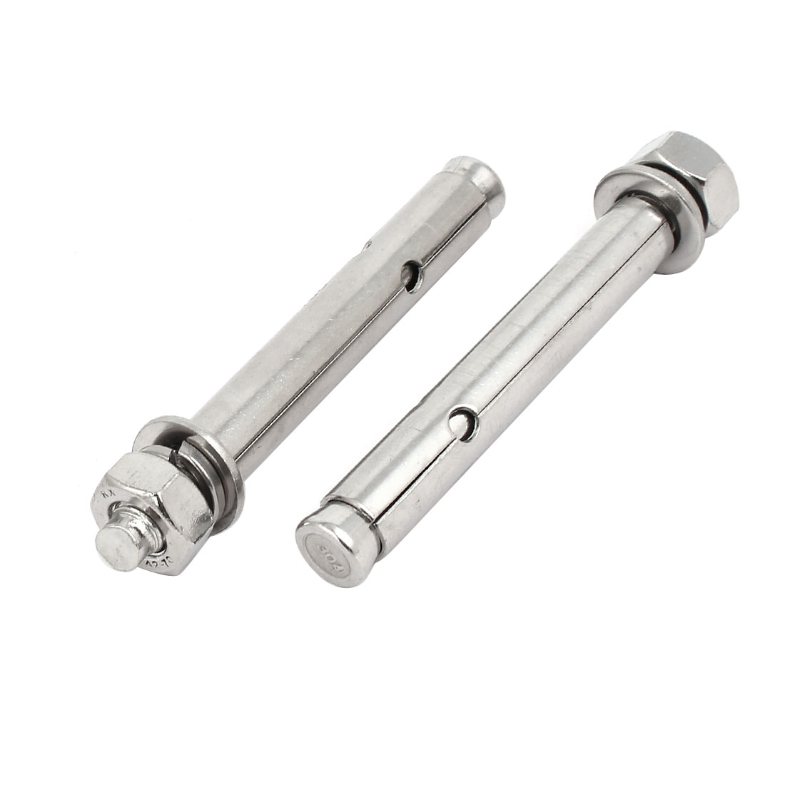 M10x100mm 304 Stainless Steel Air Condition Fitting Sleeve Anchor Expansion Bolt 2pcs