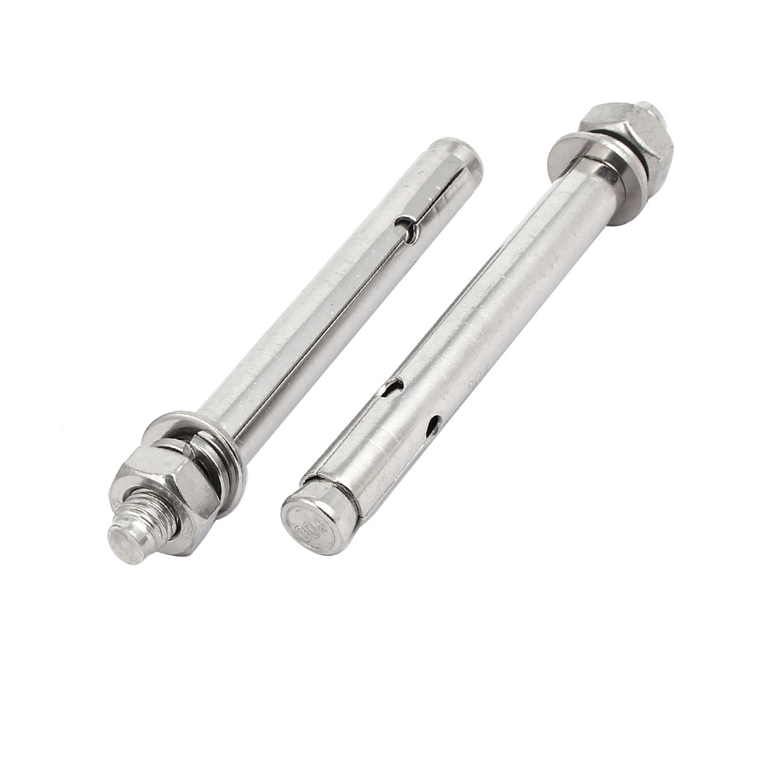M10x120mm 304 Stainless Steel Air Condition Fitting Sleeve Anchor Expansion Bolt 2pcs