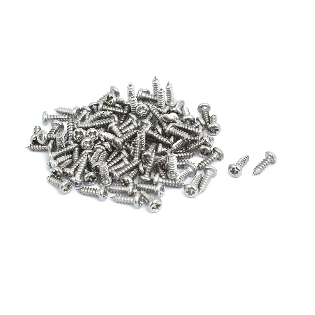 M3x10mm 304 Stainless Steel Phillips Drive Pan Head Self Tapping Screws 100pcs